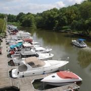 Floating boat dock boat slips Harrods Creek KY